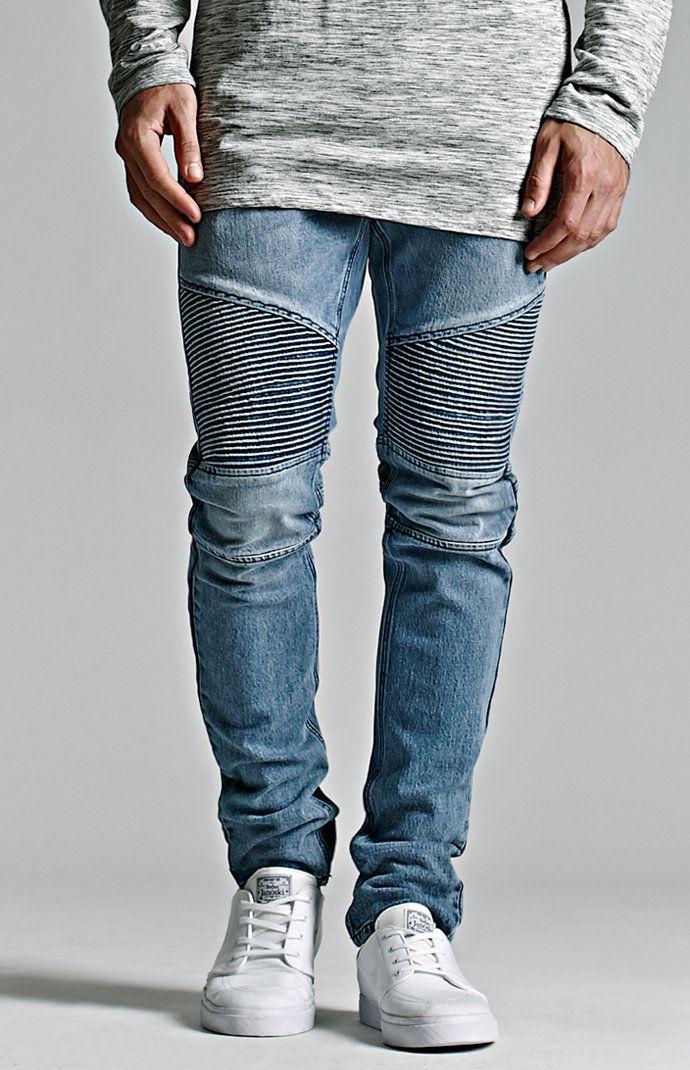 Bullhead Denim Co. Medium Moto Stacked Skinny Jeans  64.95 Moto  Herrenjeans, Jeanshosen, Hosen 25626842ff