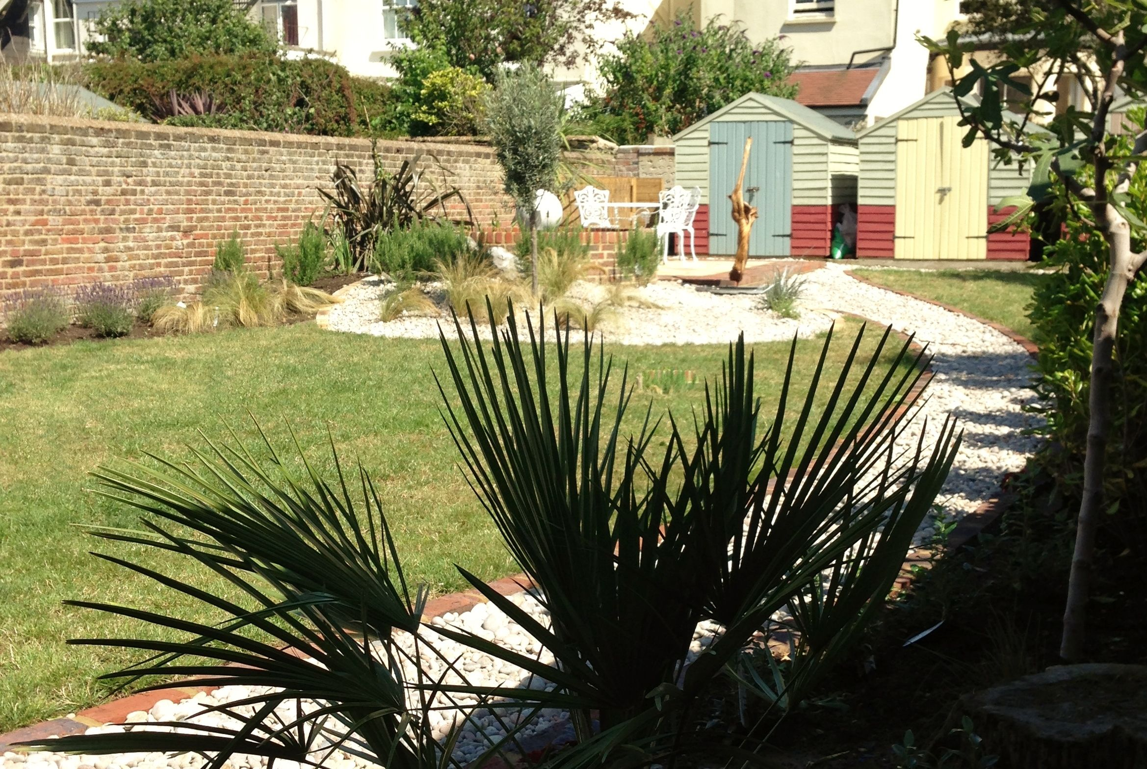 Designed town garden in Hove, Sussex with seaside theme based on ...