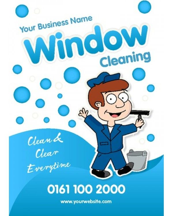 window cleaning a6 leaflets template designs we like