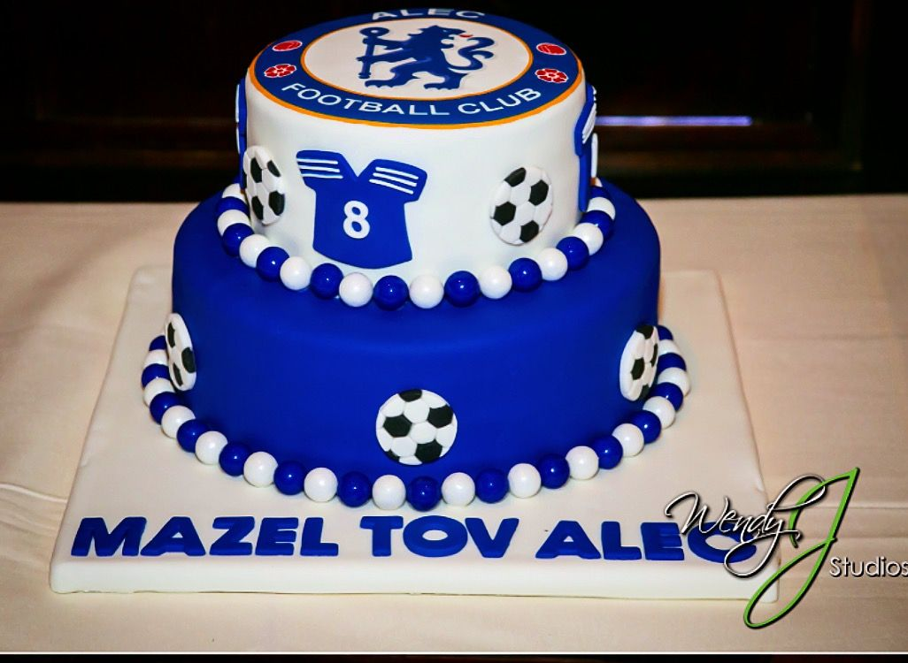 Chelsea Football Club Bar Mitzvah Cake Chelseafc Soccer Birthday Parties Soccer Birthday Themed Cakes
