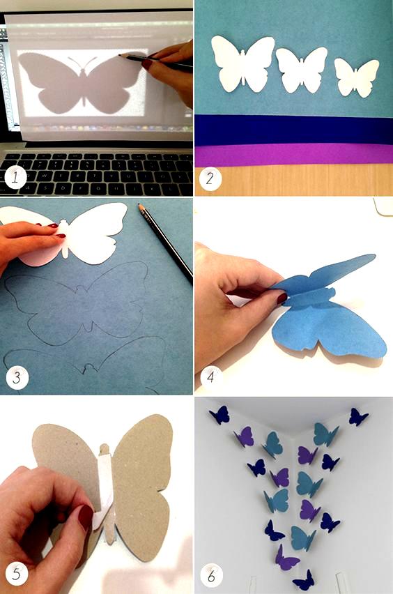 Borboleta De Papel 25 Moldes In 2020 Diy Butterfly Decorations Paper Butterfly Diy Paper Butterfly