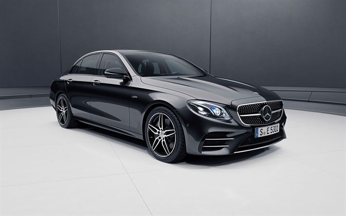 Download wallpapers MercedesBenz E53 AMG 2018 4MATIC c238 exterior black luxury coupe new black Eclass German cars Mercedes