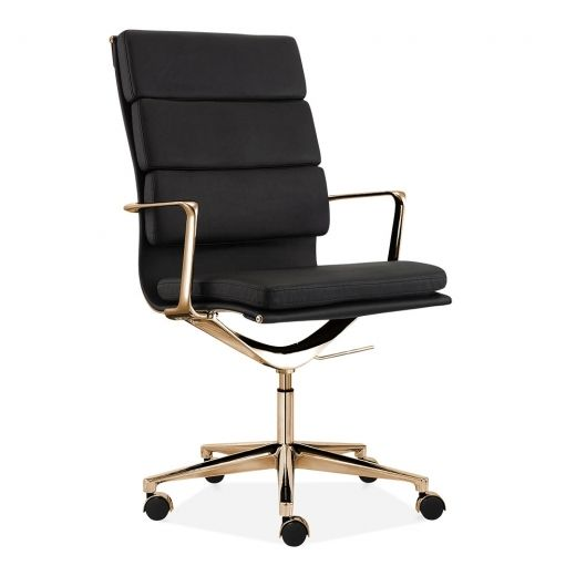 Charles Eames style Office Padded faux Leather Mastermind