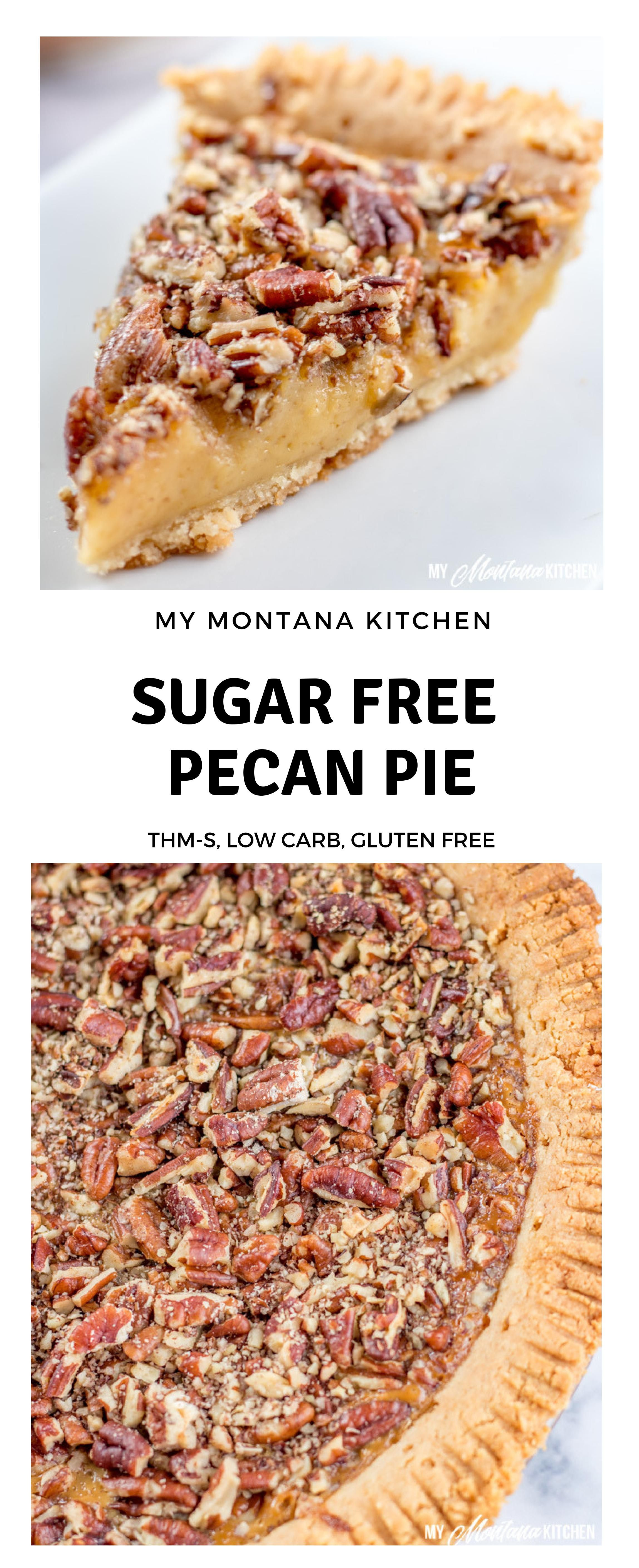 This Sugar Free Pecan Pie Uses A Low Carb Condensed Milk To Replace The Traditional Corn Syrup Used In Pecan Pie This L Sugar Free Pecan Pie Low Carb Pecan Pie