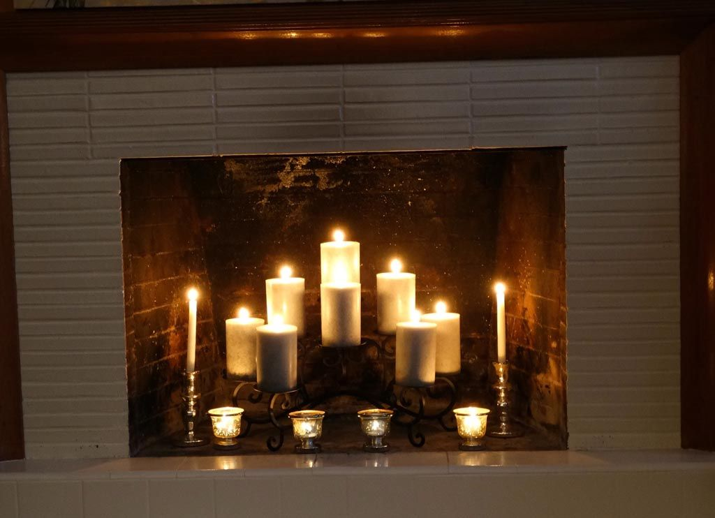 Candles In A Fireplace fireplace inserts candle holders  | illuminate me | pinterest