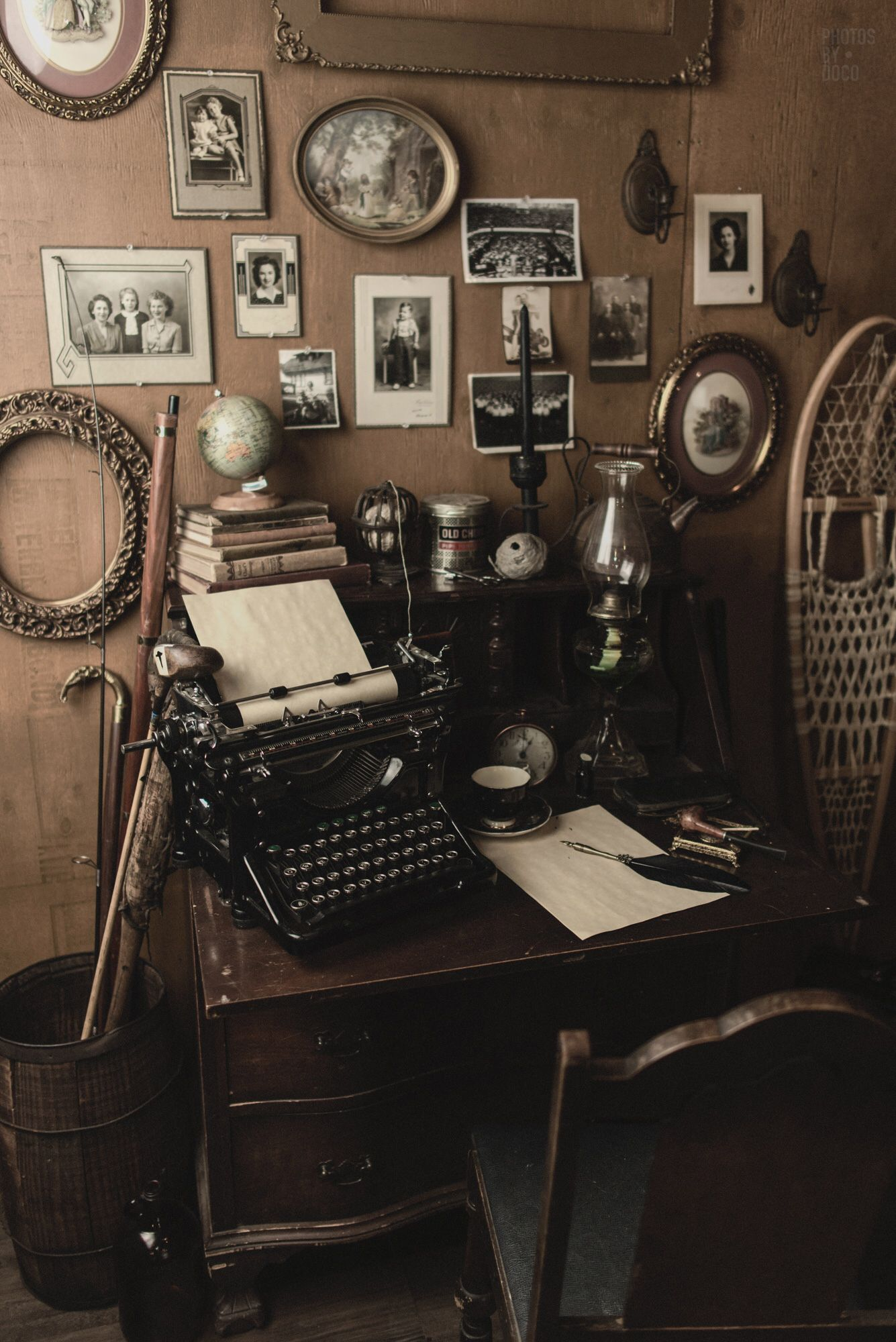 """The desk from the """"busy"""" room set.   Photo by Photos By Doco"""