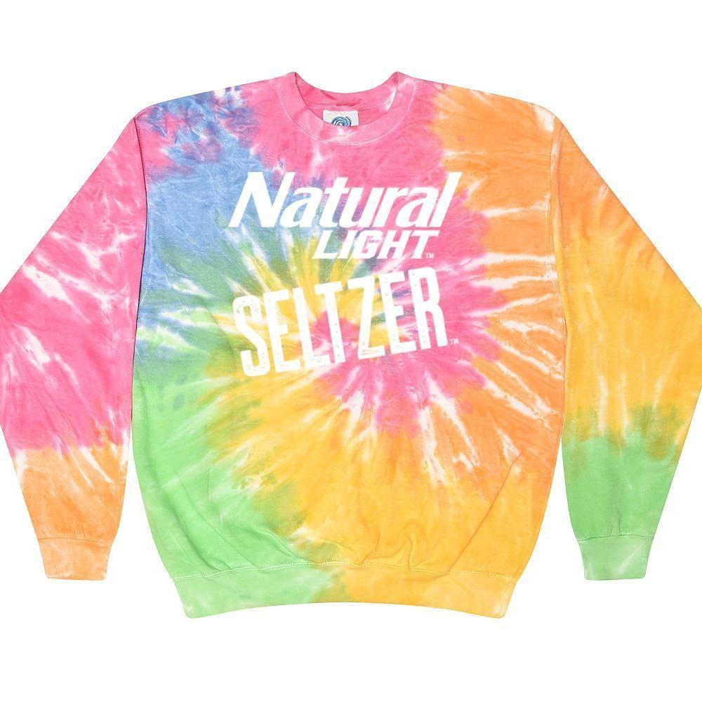 Natural Light Seltzer Tie Dye Sweatshirt In 2021 Tie Dye Tie Dye Sweatshirt Sweatshirts [ 1000 x 1000 Pixel ]