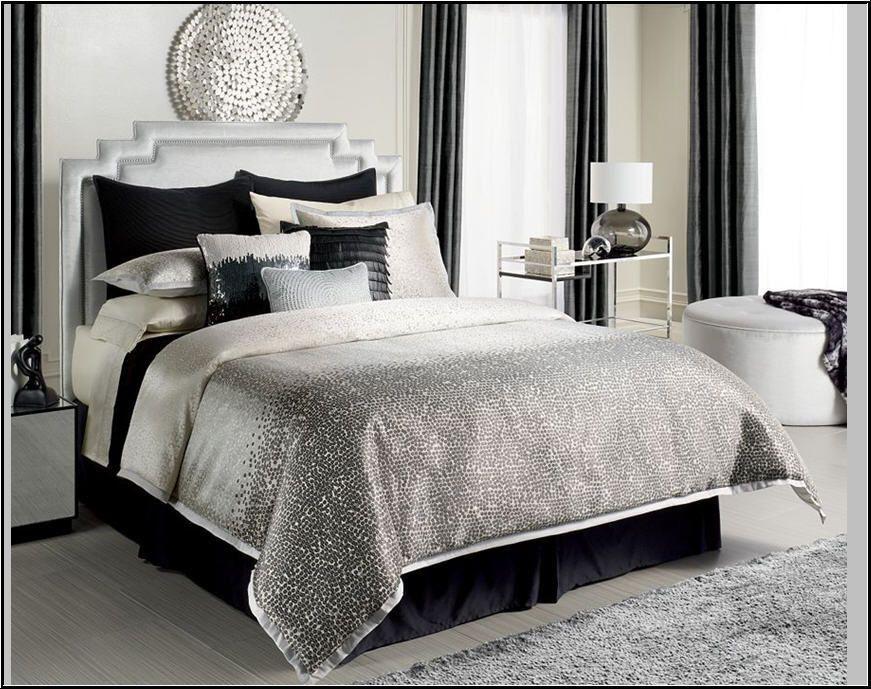 Jennifer Lopez Jet Setter Comforter Set 4pc Silver Shimmer