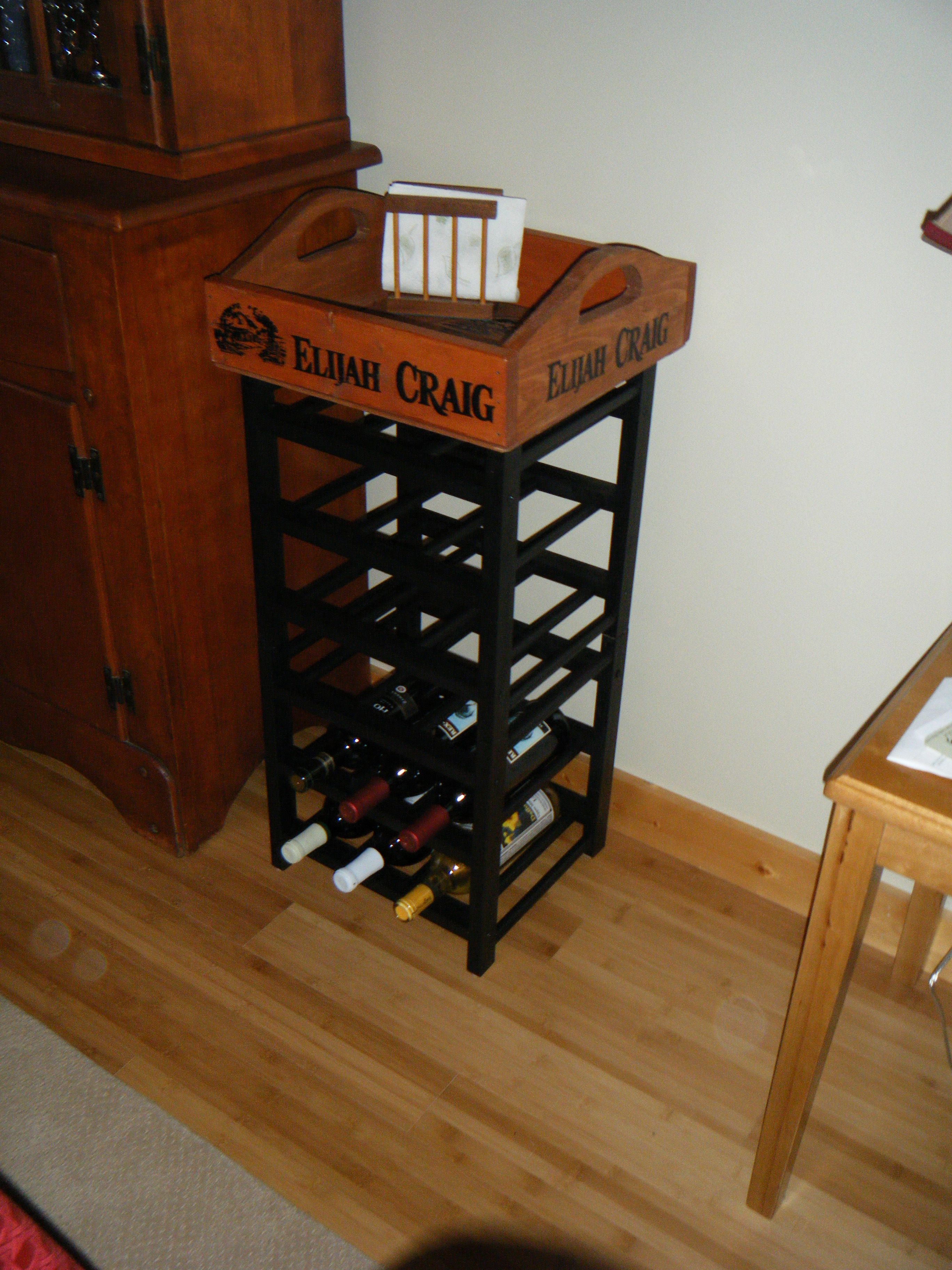 Side Tablewine Rack An Ikea Wine Rack Painted Black With An