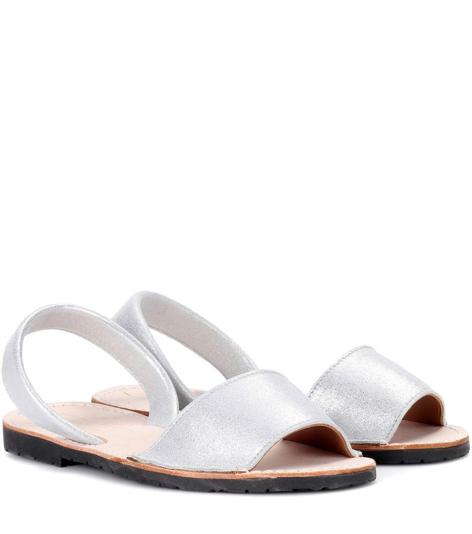 Metallic leather sandals Del Rio London rN7M6