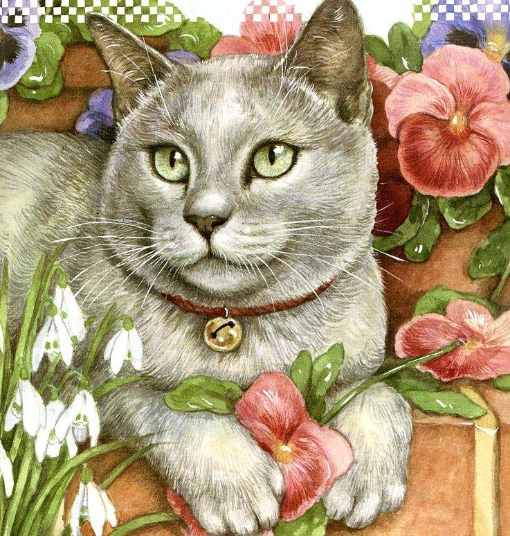 коты и кошки картинки рисунки стриженов тоже