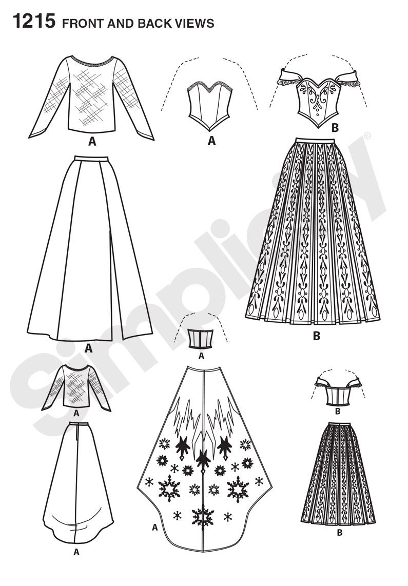 Annau0027s Coronation dress Simplicity 1215 Sewing Pattern Disney Frozen Costume Gown  sc 1 st  Pinterest : simplicity halloween costumes  - Germanpascual.Com