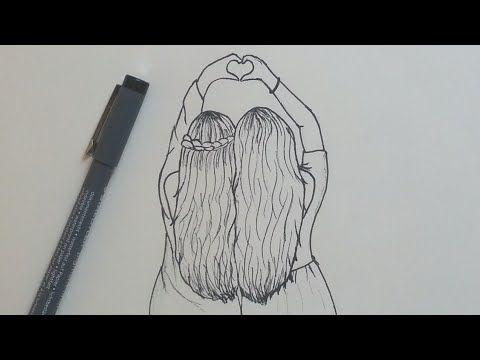 Cómo dibujar mejores amigos fácil   Paso a paso - YouTube