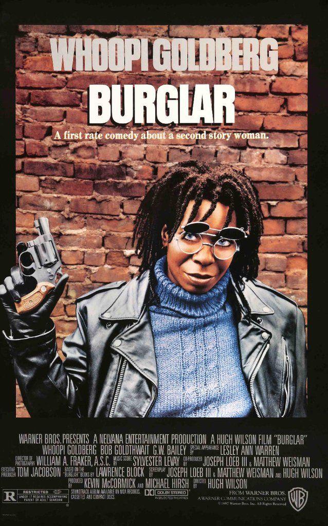 Burglar (1987) Film, Whoopi goldberg, Movie posters