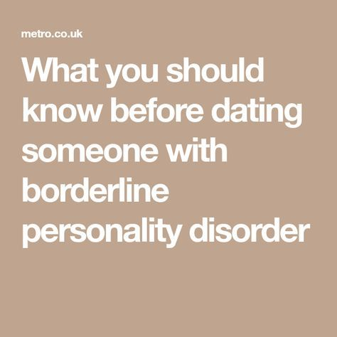 borderline personality disorder dating someone with