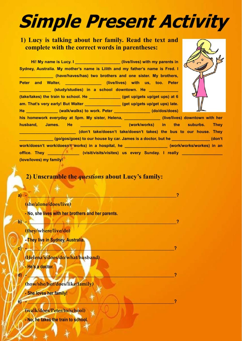 PRESENT SIMPLE interactive and downloadable worksheet. Check your ...