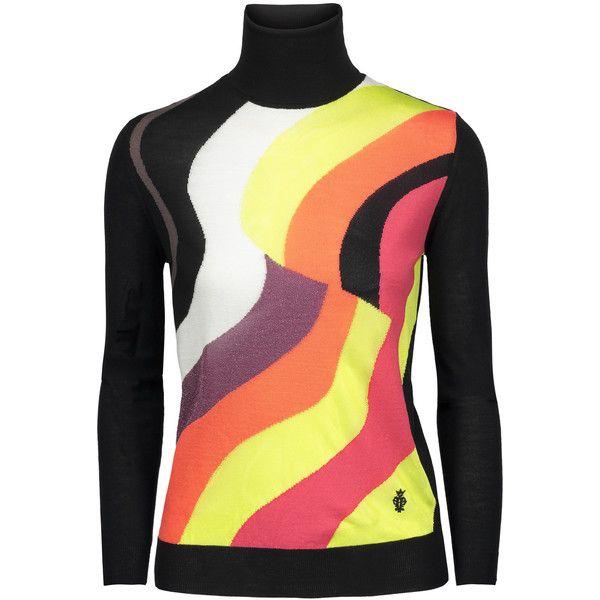 Emilio Pucci - Jacquard-knit Wool-blend Sweater ($378) ❤ liked on