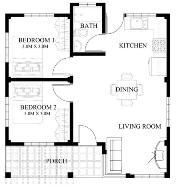 Modelos de casas de 50 metros cuadrados small home for Casa moderna 50 metros cuadrados