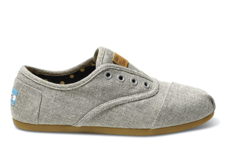 TOMS: Grey Hemp Women's Cordones. Love these!