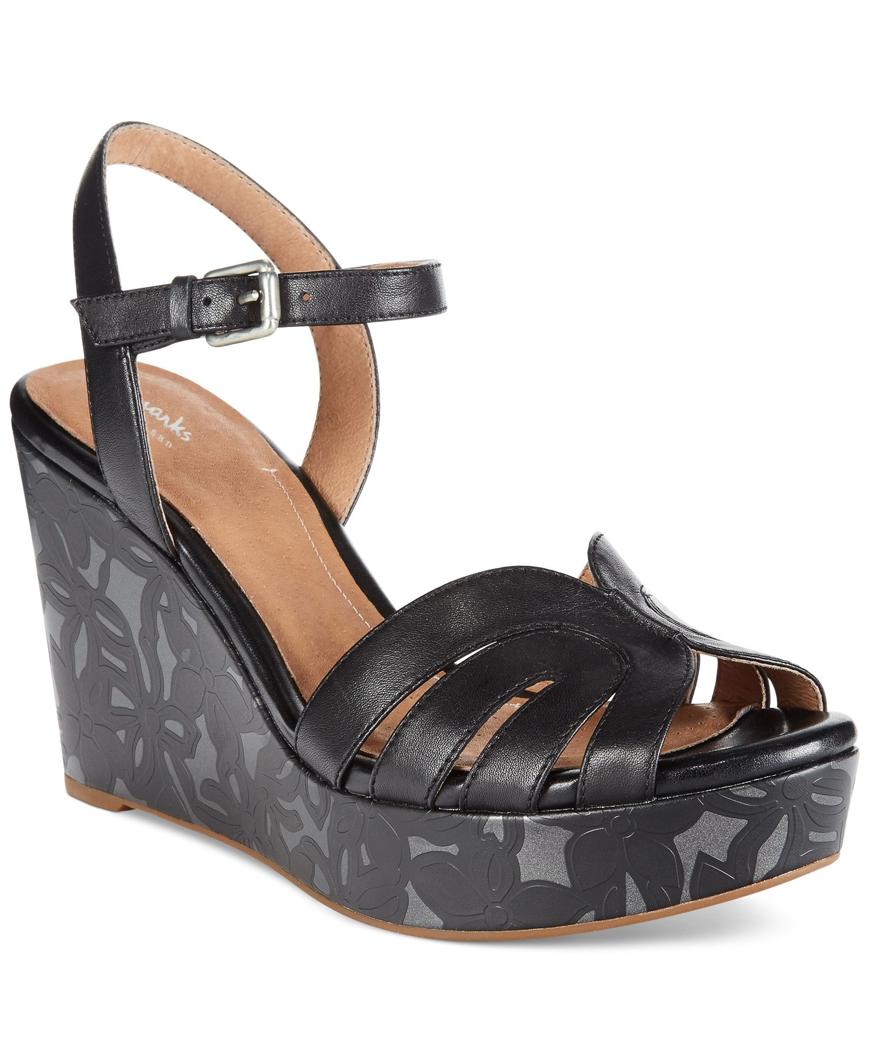 0906c57ff1fb Clarks Artisan Women s Amelia Page Platform Wedge Sandals
