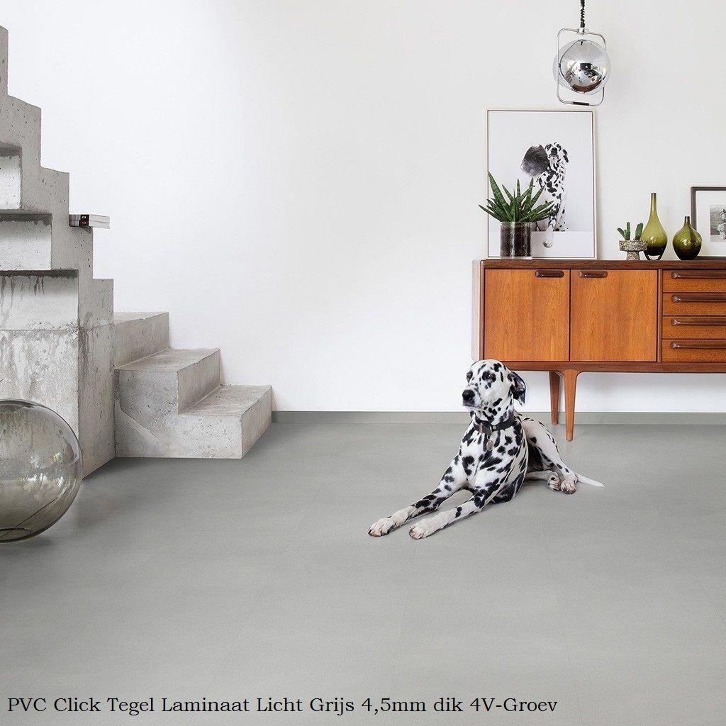 aeb7d53c4f0 PVC Click Tegel Laminaat Licht Grijs 4,5mm 4V-groev in 2019 | Den ...