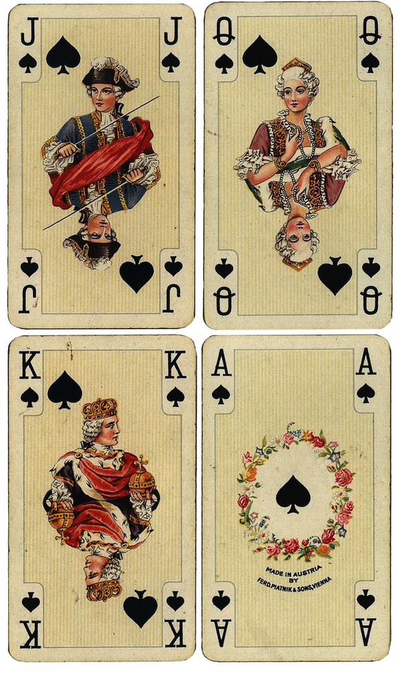 Wings of Whimsy: Antique French Playing Cards - Spades - free for ...