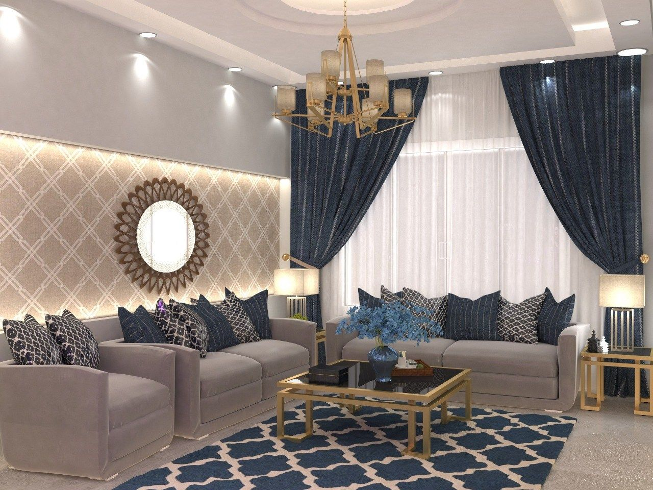 مجالس نساء بازار للتصميم الداخلي و الديكور Classy Living Room Living Room Decor Apartment Living Room Design Modern