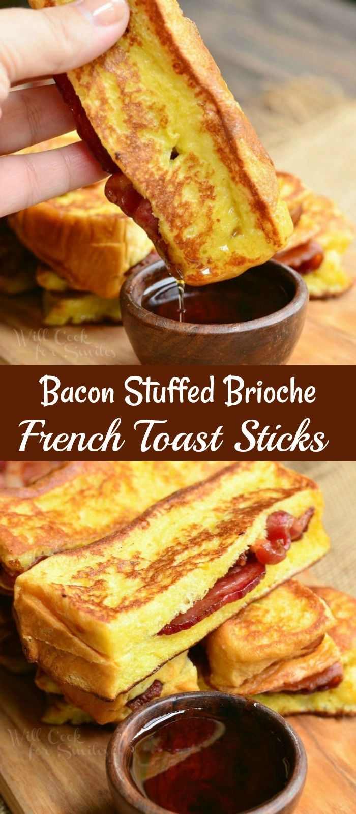 Photo of Bacon Stuffed Broiche French Toast Sticks