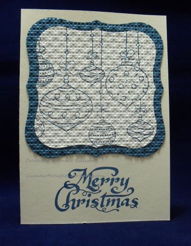 Hanging Christmas Ornaments Not Quite Navy by fauxme - Cards and Paper Crafts at Splitcoaststampers