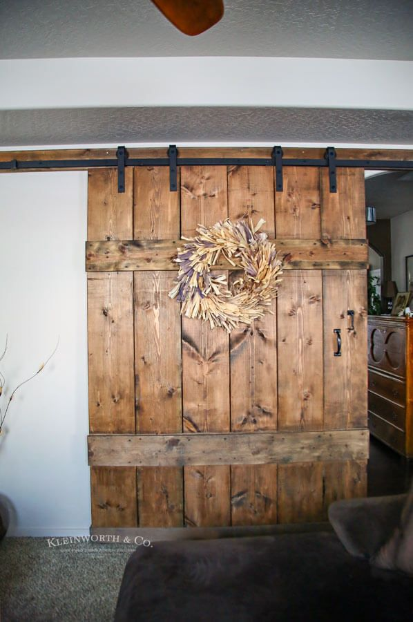 This Wide Rustic Barn Door Is 6 Feet Wide Made For Extra Large Doorways It S Incredibly Simple T Rustic Barn Door Sliding Barn Door Hardware White Barn Door