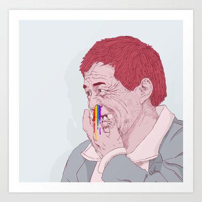 diggin for rainbow Art Print by Yna Cruz - $18.00
