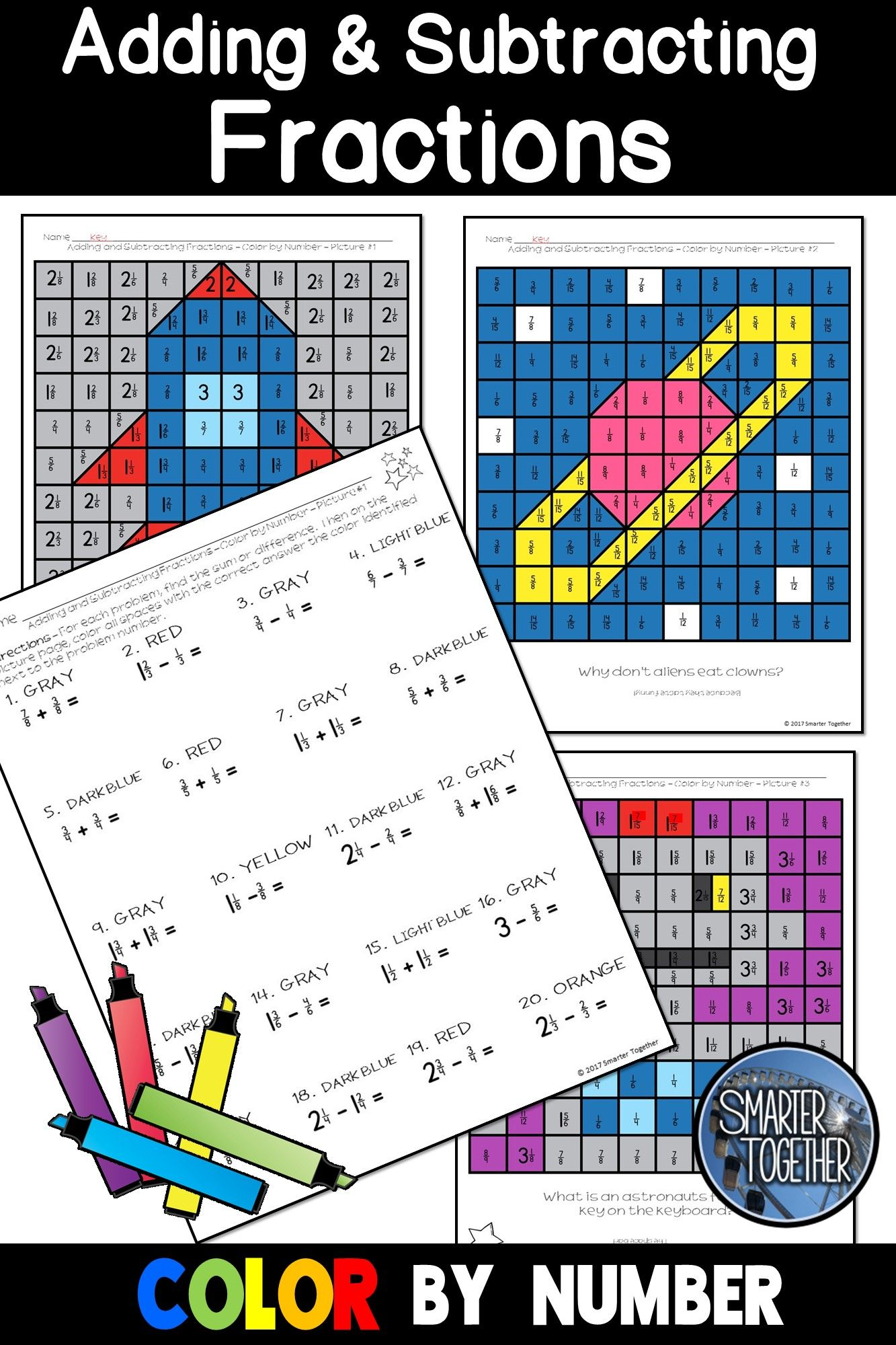 Adding And Subtracting Fractions Adding And Subtracting Fractions Subtracting Fractions Fractions Adding and subtracting fraction bingo