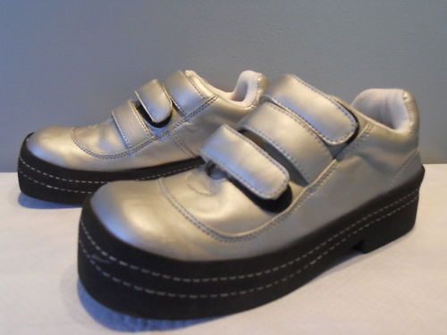 Discontinued 90s Rocket Dog Wedge Platforms Moon Shoes Silver Disco Glam 8 | eBay
