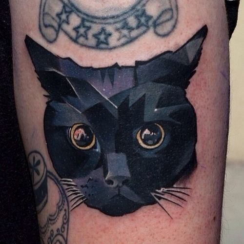 68 Tumblr Geometric Animal Tattoo Black Cat Tattoos Cat Tattoo Designs