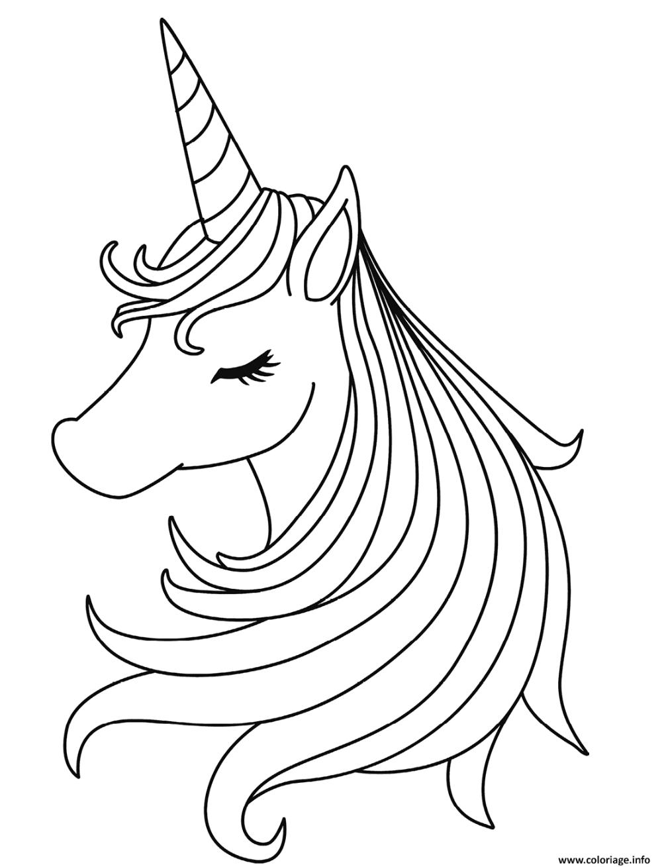 Coloriage Tete De Licorne Fille A Imprimer In 2020 Unicorn Coloring Pages Coloring Pages Unicorn