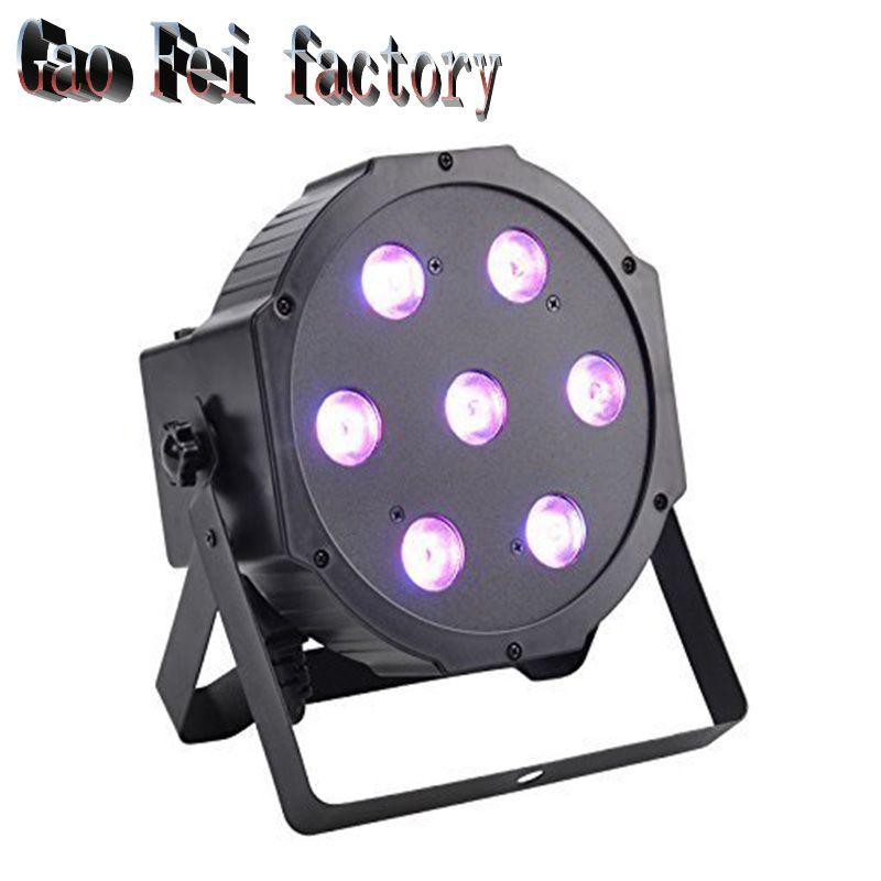 7X12 W LED Par light RGBW 4in1 flat par led dmx disco lichten ...