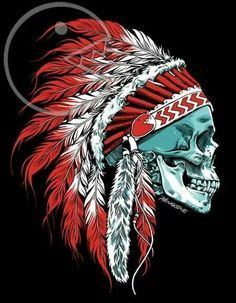 Indian Chief Skull Art Side View Google Search Mike Giant In