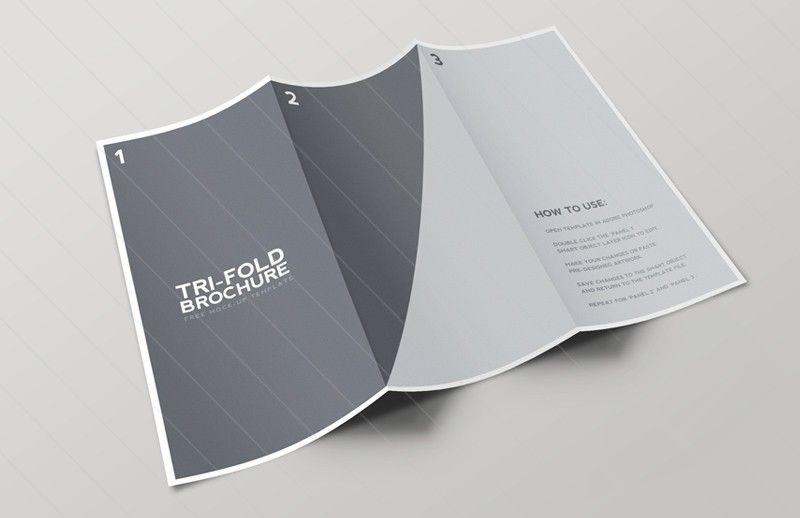 Tri Fold Brochure Mockup Template Trifold Brochure Template Mockup Template Trifold Brochure