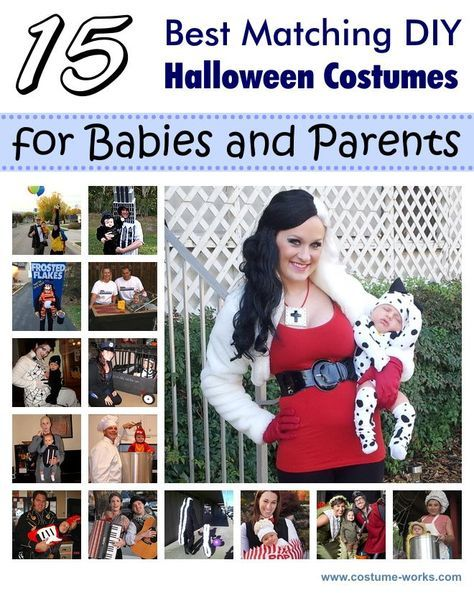 15 Great Ideas of Matching DIY Halloween Costumes for Babies and Parents via @costumeworks