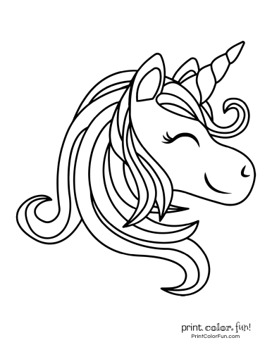 Cute Unicorn Coloring Page Printable Horse Coloring Pages Animal Coloring Pages Cute Coloring Pages