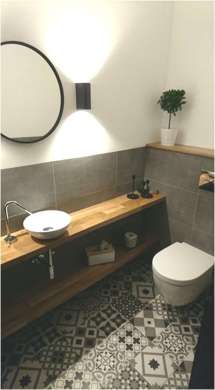 Gäste WC Retro Fliesen Eiche badezimmerideen