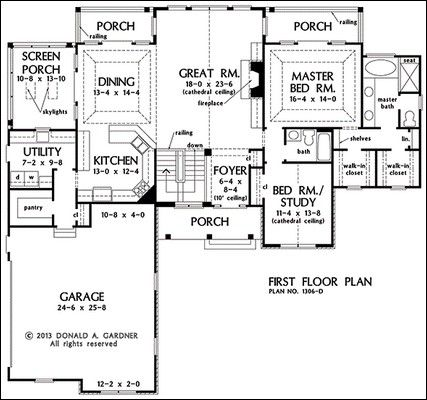 Ordinaire First Floor Plan Of The Rainey   House Plan Number   PERFECT For Sloping  Lot .his/her Closets