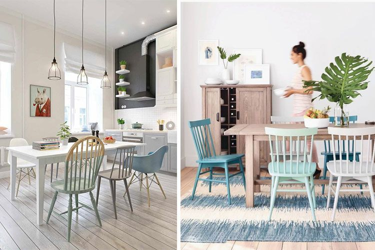 Mesas de comedor con sillas diferentes | Mesas de comedor