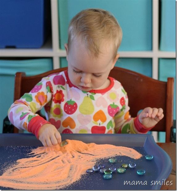 Sensory play is a wonderful contemplative activity for kids
