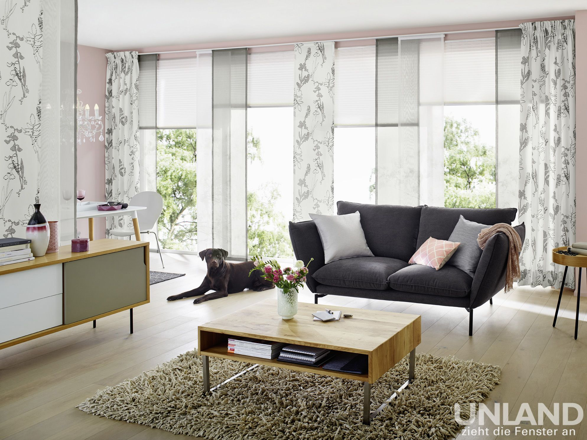 fenster botanic gardinen dekostoffe vorhang wohnstoffe plissees rollos jalousien. Black Bedroom Furniture Sets. Home Design Ideas