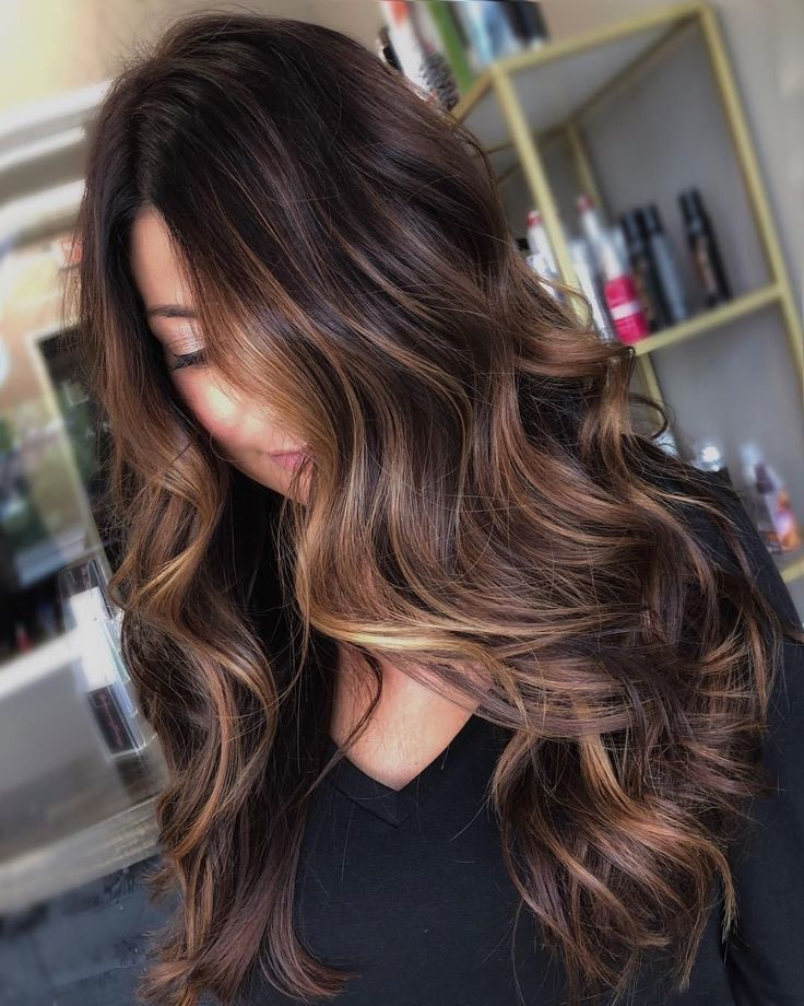 60 Chocolate Brown Hair Color Ideas for Brunettes Diffused Light Brown Highlight…