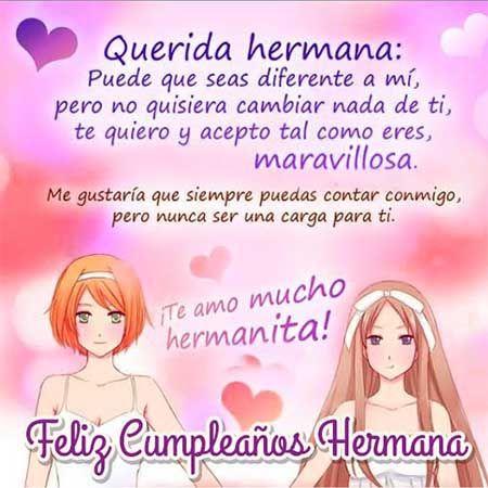 Imagenes de postales con grandes dedicatorias para regalar a tu hermana en el dia de su - Que regalar a tu hermana ...