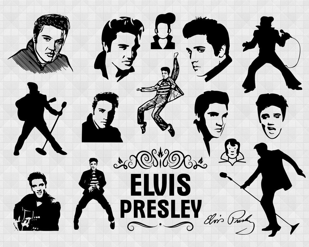 Elvis Presley Svg Celebrity Svg Celebrity Clipart Elvis Presley Dxf Celebrity Shirt Svg Silhouette Celebrity Svg Svg Design Shirts Fashion Vector File E Elvis Presley Elvis Celebrity Shirts