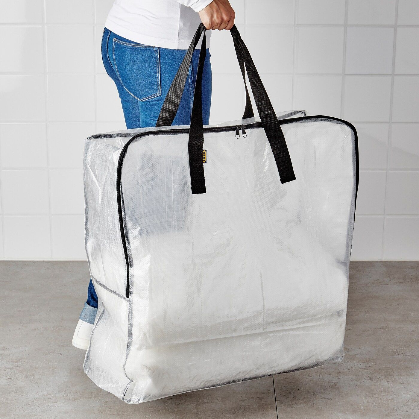 Ikea Dimpa Storage Bag Transparent In 2020 Bag Storage Ikea Dimpa Large Storage Bags