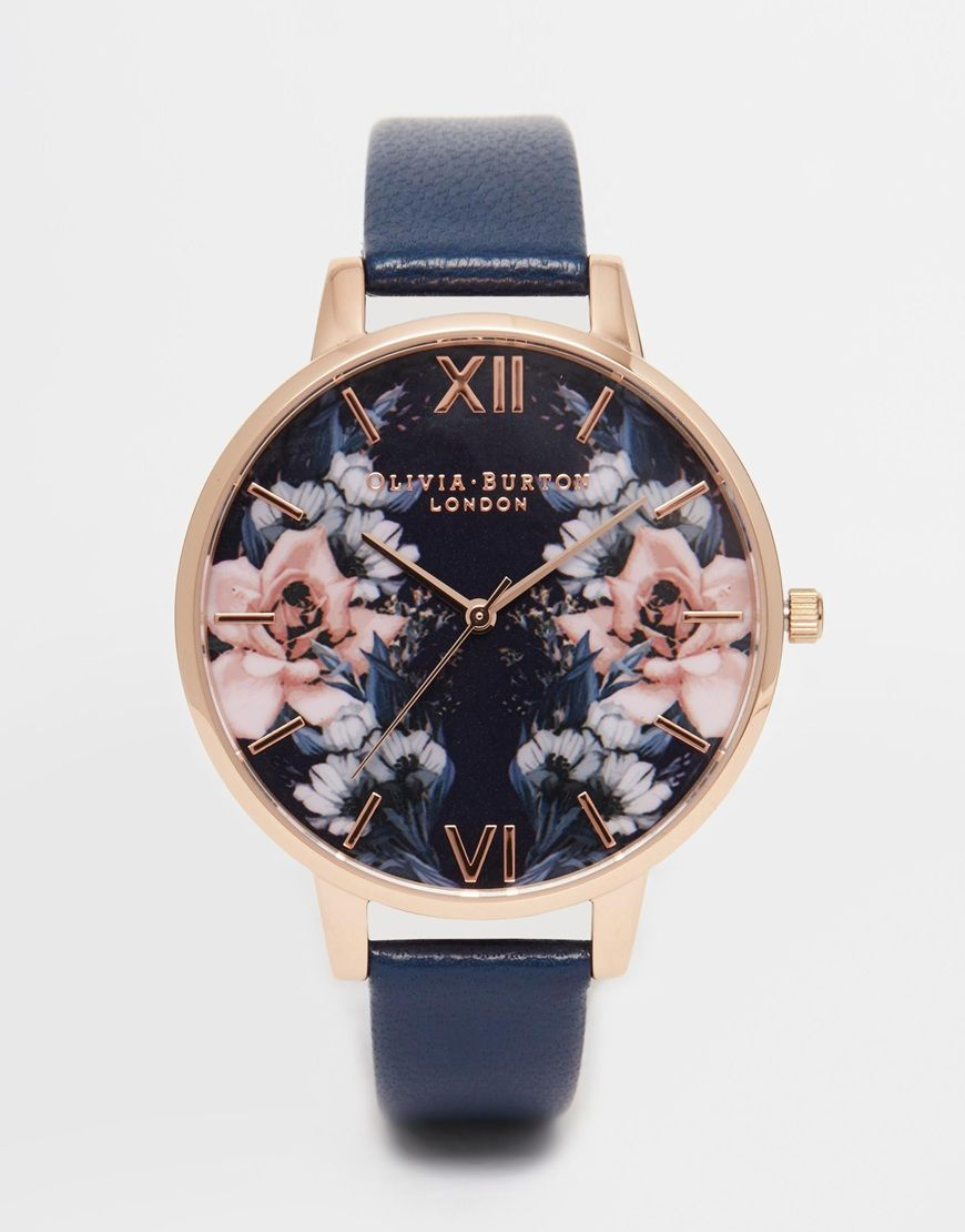 olivia burton floral big dial watch 144 jewelry. Black Bedroom Furniture Sets. Home Design Ideas